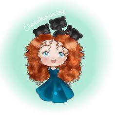 #Merida #Brave #Disney #Chibi
