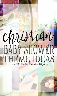 Christian Baby Shower Theme Ideas | Through Clouded Glass                                                                                                                                                                                 More