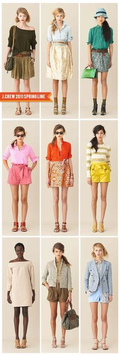 Spring fever - J.crew spring 2011..i would wear it all & love every minute of it.
