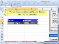 ▶ Excel Facil Truco #55: Validacion de Datos con Fecha - YouTube Bajar el libro de trabajo: http://www.excelfacil123.com.ar/  Como usar validacion de datos con fechas. Como crear una tabla con Validacion de Datos de fechas.  Twitter: http://twitter.com/ExcelFacil123 Facebook: https://www.facebook.com/pages/Excel-F%C3%A1cil/370567826406025 Excelisfun: http://www.youtube.com/user/ExcelIsFun?feature=watch