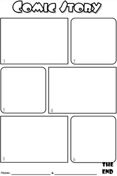 Comic Strip Template Pages for Creative Assignments. For my comic ...