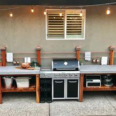 Outdoor Kitchen Plans, Backyard Kitchen, Outdoor Kitchen Design, Diy Kitchen, Outdoor Cooking, Outdoor Kitchens, Diy Patio Kitchen Ideas, Kitchen Bars, Outdoor Countertop