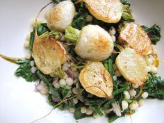 Roasted Hakurei Turnips with Israeli Couscous Salad | Not Eating Out in New York
