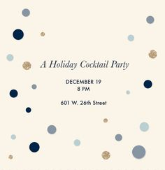 A custom holiday party invitation designed with Martha Stewart CraftStudio. Click the link to download the app.