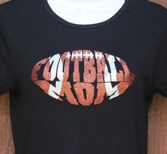Women's+Glitter+Bling+Football+Mom+shirt+by+RedheadedMonkeys,+$21.00