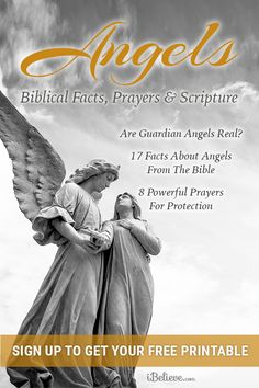 """When I first studied how angels interact with believers, all I could say was, ""Wow! Thank you, Father, for these powerful gifts to help Your people!"" Get your free biblical guides to angels with facts, prayers and scripture today!"