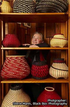 Billie Ruth Sudduth, maker of beautiful basketry.