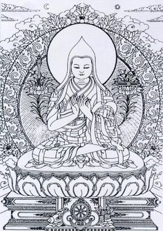 (By Tsem Rinpoche) TSONGKHAPA explained by Tsem Rinpoche of Making a Lama Tsongkhapa iconography is very powerful. You can call him Lama Tsongkhapa, . Mandala Coloring Pages, Colouring Pages, Adult Coloring Pages, Coloring Books, Buddha Drawing, Zen Art, Buddhist Art, Line Drawing, Stencils