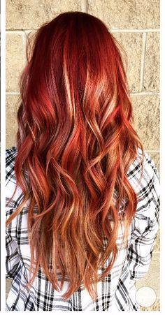 Sassy Fall Hair. Redhead. Wella color. Ombré