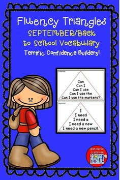 Help your kids build reading fluency and confidence with these September/Back to school fluency triangles. Filled with back to school vocabulary as well! Reading Fluency Activities, Love Teacher, Struggling Readers, Building For Kids, Elementary Schools, Elementary Teacher, Vocabulary Words, Sight Words, Triangles
