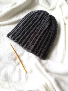 Easy hat - Nordic Hook Crochet Winter, Crochet Home, Free Crochet, Knitting Patterns Free, Knit Patterns, Free Pattern, Chunky Infinity Scarves, Knitting For Kids, Knitted Hats