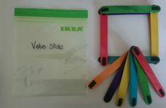 Velcro sticks busy bag