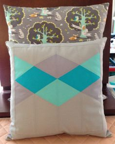 A pillow to go with my Foxy Frolics quilt.