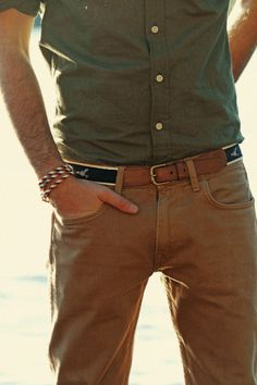 The Belt pulls this shirt pants combo together very well.