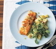 Salmon With Potato Salad