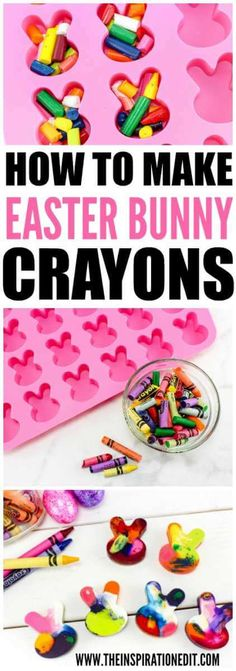 This is a fabulous tutorial how to recycle crayons. Using a mould you can make the cutest easter crayons for your children and its such a fun activity to