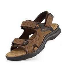 bed61b4a68c248 Camel mens genuine leather cowhide sandals - Loluxe - 1 Sandals Outfit
