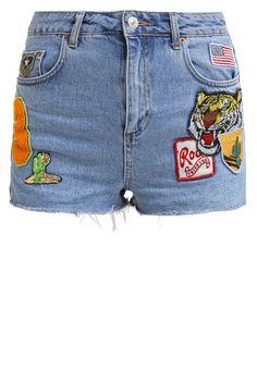 Topshop MOM Szorty jeansowe middenim