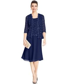 Rm Richards Pee Sequin Lace Dress And Jacket Dresses Mother Of