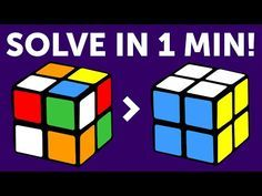 How to Solve a 2x2 Rubik's Cube in a Minute | The Quickest Tutorial - YouTube