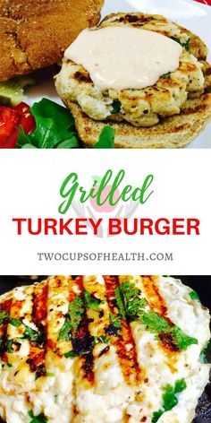 These Grilled Turkey Burgers with Sriracha Cream Sauce are packed with the Kicked-up flavors of Sriracha, shallots and cilantro. #turkeyburger #yum #foodie #grilled burger Healthy Food, Healthy Recipes, Yummy Recipes, Grilled Turkey Burgers, Dairy Free Snacks, Turkey Casserole, Large Family Meals, Quick Dinner Recipes, Roasted Turkey