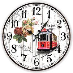 Taksim Antik Ahşap Duvar Saati  Ürün Bilgisi;  MDF gövde Sessiz akar saniye Çap 35 cm. Çok şık ve dekoratif ahşap duvar saati Ürün resimde olduğu gibidir