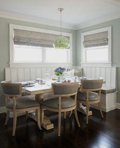 House of Turquoise: Dalia Canora Design Dining Nook, Dining Room Design, Dining Room Furniture, House Of Turquoise, Luxury Interior Design, Roman Shades, Luxury Homes, House Design, Home Decor