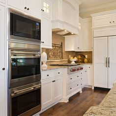 double oven microwave combo - you could do this, but you would lose pantry space.