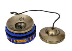 Product Description:  Tibetan Buddhist meditation hand bells Tingsha (Chime) cymbals with embossed. Tibetan Tingsha Bells is specially used for space clearing, personal energy clearing, meditation, and healing work. The beautiful handmade product used in prayer and rituals by Tibetan Buddhist practitioners. When struck together produces a clear and high pitched tone.  =====================...