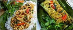 Nasi bakar memiliki aroma khas yang membangkitkan selera. Nasi Bakar, Malaysian Food, Indonesian Food, Asian Recipes, Zucchini, Food And Drink, Menu, Cooking Recipes, Yummy Food