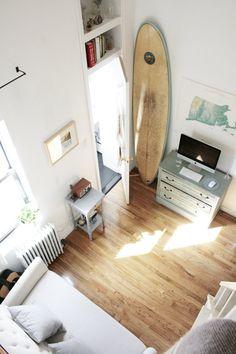 tiny apartment.