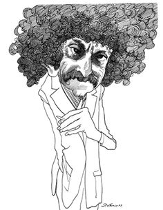 David Levine, Kurt Vonnegut. As just mentioned in my Pin for Saul Steinberg. Sharp with a pen, and sharper with his insight. More images at the link