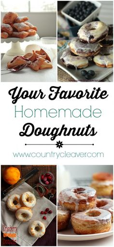 Your FAVORITE Doughnuts can be made at home! Find out how to make doughnuts that will tickle your tastebuds! Healthy Cookie Recipes, Donut Recipes, Healthy Cookies, Brunch Recipes, Cooking Recipes, Bread Recipes, What's For Breakfast, Breakfast Dishes, Breakfast Recipes