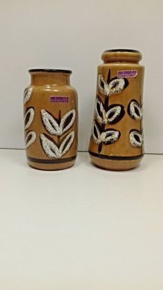 Scheurich vase 209-18 and 231-15 west germany by SvealandVintage