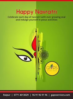 Celebrate each day of #Navratri with ever glowing zeal and indulge yourself in pious activities. #HappyNavratri ...  For any #realestate queries #call 9691969196 or visit www.gapsservices.com