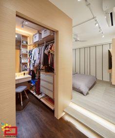 27 best Ideas for closet abiertos mujer Bedroom Closet Design, Small Room Bedroom, Trendy Bedroom, Home Decor Bedroom, Master Bedroom, Platform Bed Designs, Platform Bedroom, Bedroom Cabinets, Tv Cabinets