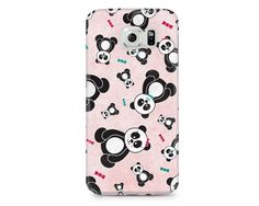 This sweet and cute phone case features boy and girl panda bears in a colorful freefall with fun textures and patterns. So sweet and girly!