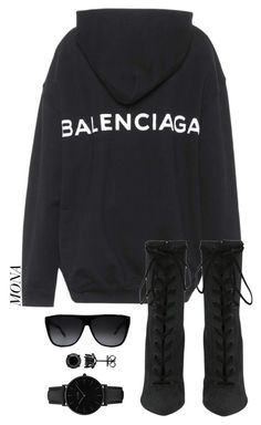 """Untitled #266"" by styledbylamona ❤ liked on Polyvore featuring Balenciaga, Yves Saint Laurent and CLUSE"