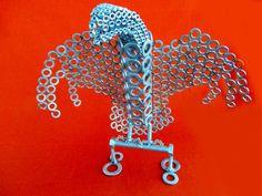 Aquila in acciaio misure altezza 28 cm-larghezza di stevieacciaio
