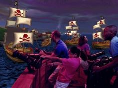 Visit DisneyQuest in Walt Disney World and you can become a pirate on the high seas!  Virtual fun for everyone!
