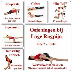 Afbeeldingsresultaat voor yoga oefeningen voor de rug - Another! Body Challenge, Yoga Positions, Best Yoga, Back Pain, Excercise, Yoga Fitness, Yoga Poses, At Home Workouts, Pilates