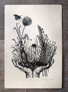 All Posters - Beehive Design Collective Store Nature Tattoos, Body Art Tattoos, Sleeve Tattoos, Drawing Sketches, Art Drawings, Pen Art, Letterpress, Art Inspo, Painting & Drawing