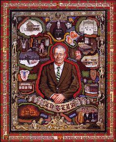 "Joe Coleman ""Portrait of Ed Gein"", 1996"