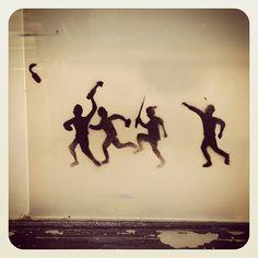 Monday Madness at Bondi #streetart #atbondi #bondi #graffiti #stencil #sydney