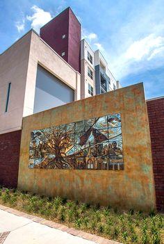 Natalie Blake Studios installed 3 large, ceramic art tile murals at the Trio at Encore! development in Tampa, FL, as part of a public art grant. Read more: http://natalieblakestudios.com/2014/06/02/we-did-it/