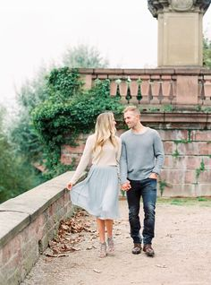 Sweater and flowy skirts from Zara for Fall engagement sessions