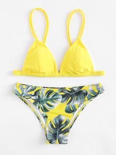 ¡Consigue este tipo de bikini de SheIn ahora! Haz clic para ver los detalles. Envíos gratis a toda España. Jungle Print Triangle Bikini Set: Yellow Bikinis Sexy Vacation Triangle Polyester YES Print Swimwear. (bikini, bikini, biquini, conjuntos de bikinis, twopiece, bikini, bikini, bikini, bikini, bikinis)