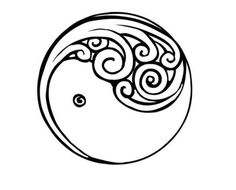 Maori Tattoo design Silver Fern Koru.