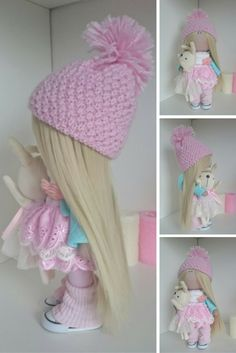 Baby doll Nursery doll Tilda doll #Handmade doll Fabric doll Pink doll Cloth doll Textile doll Rag doll Interior doll Textile doll by Elvira