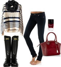fall / winter outfits - need some rain boots..!!